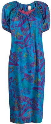 Krizia Pre Owned 1980s butterfly print dress