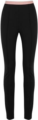 Gucci Black logo stretch-jersey leggings