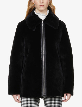 Claudie Pierlot Firot shearling-lined leather coat