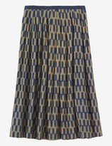 Toast Chequerboard Ikat Skirt
