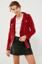 Blank NYC BLANKNYC Red My Mind Suede Moto Jacket