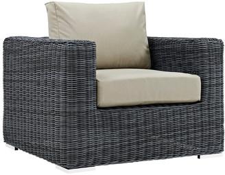 Modway Summon Outdoor Patio Wicker Rattan Sunbrella Armchair