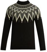 Saint Laurent Zigzag-intarsia Wool Sweater