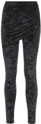 Balenciaga Stretch-velvet leggings