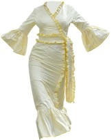 Wasulu London Kimono Metallic Maxi Dress