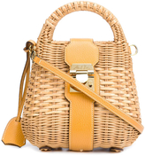 Mark Cross Manray Mini Satchel Sunflower Rattan