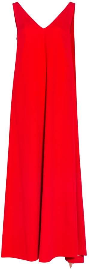 Valentino Draped Open Back Dress