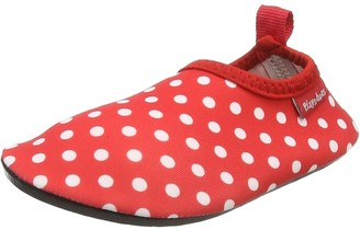 Playshoes Unisex Kid's Barefoot Aqua Socks with UV Protection Dotted Water Shoes Pink Light Pink 14 6 UK Child 22/23 EU