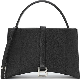 Balenciaga Hourglass Small East-West leather tote