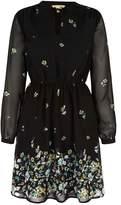 Yumi Floral Long Sleeved Tea Dress