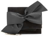 Victoria Beckham Bow Suede And Satin Shoulder Bag