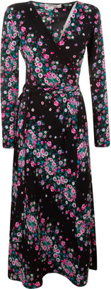 Diane von Furstenberg Floral Print Long Dress