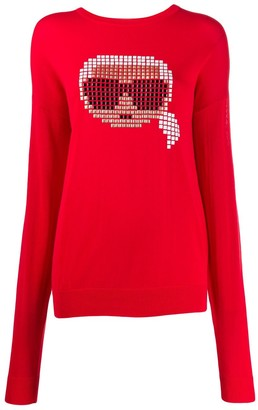 Karl Lagerfeld Paris pixel motif jumper