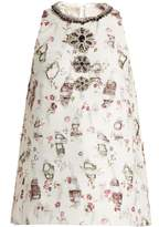 Giambattista Valli Embellished floral-embroidered top