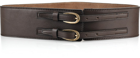 Armand Basi Solan double-buckle leather belt