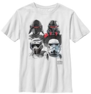 Star Wars Big Boys Jedi Fallen Order Trooper Helmets Short Sleeve T-Shirt