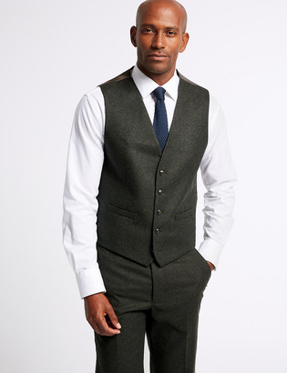 Marks and Spencer Dark Green Tailored Fit Tailored Waistcoat
