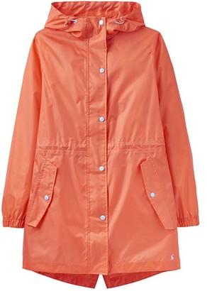 Joules Women's Rain Coats BRTCORL - Bright Coral Waterproof Packaway Golightly Jacket - Women