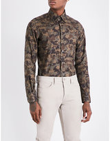 Tom Ford Camouflage-print Slim-fit Cotton Shirt