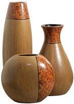 Elegant Expressions by Hosley Burlwood Vases, Set of 3 by Elegant Expressions by Hosley