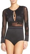 For Love & Lemons Women's Soliana Applique Bodysuit