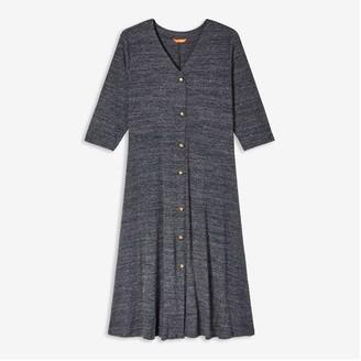 Joe Fresh Women+ Button-Front Dress, Camel (Size 1X)