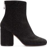Maison Margiela Black Metallic Textile Boots