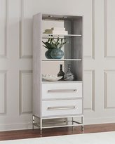 John-Richard Collection Zada Tall Stainless Steel Cabinet