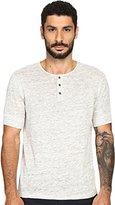 Vince Men's Linen Jersey Short Sleeve Henley Shirt