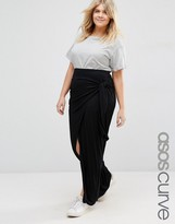 Asos Maxi Skirt with Knot Side