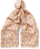 Paul Smith Printed Silk-Twill Scarf