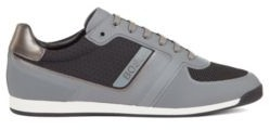HUGO BOSS Low Profile Trainers With Mesh And Thermo Bonded Details - Grey