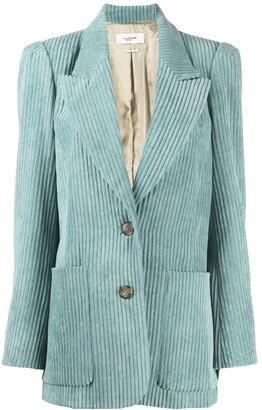 Etoile Isabel Marant Corduroy Single-Breasted Blazer
