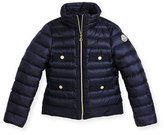 Moncler Obioma Zip-Front Puffer Jacket, Pink, Size 8-14