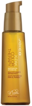 Joico K-pak Color Therapy Restorative Styling Oil, 3.4-oz, from Purebeauty Salon & Spa