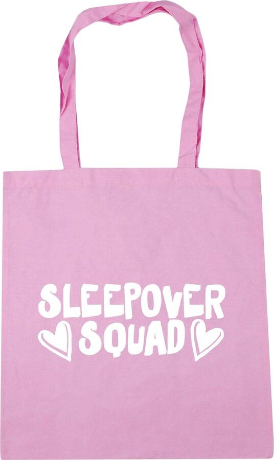 HippoWarehouse Sleepover squad Tote Shopping Gym Beach Bag 42cm x38cm 10 litres