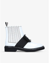 Thumbnail for your product : Roger Vivier Viv' Rangers Strass Buckle leather ankle boots
