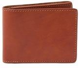 Frank & Oak Leather Bill Fold Wallet in Cognac