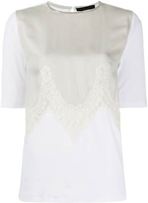 Fabiana Filippi lace insert T-shirt