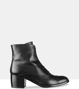 Habbot. Women's Black Heeled Boots - Grind Lace-Up Boots - Size One Size, 37 at The Iconic