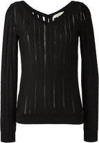 Nina Ricci striped knit jumper - women - Silk/Wool - S