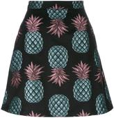 House of Holland Pineapple Skater mini skirt - women - Cotton/Polyester - 8