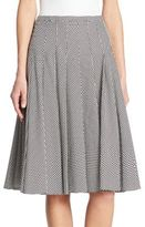 Akris Punto Dot Pleated Skirt