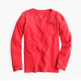 J.Crew Kids' long-sleeve garment-dyed T-shirt