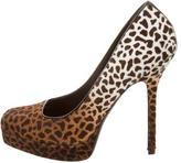 Gucci Ponyhair Leopard Print Pumps
