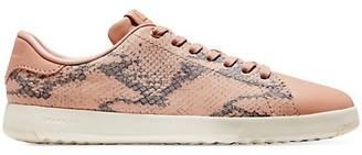 Cole Haan GrandPro Snakeskin-Embossed Leather Sneakers