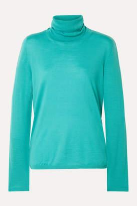 Max Mara Wool Turtleneck Sweater - Turquoise