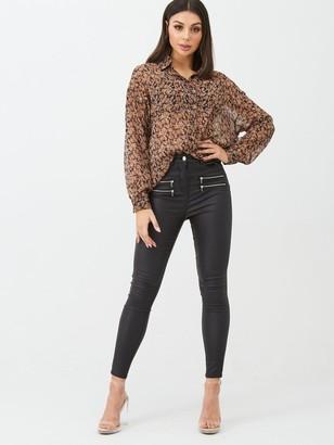 boohoo Paisley Floral Shirt - Brown