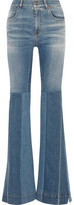 Roberto Cavalli Patchwork High-Rise Flared Jeans