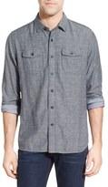 Grayers Men's 'Capel' Regular Fit Double Cloth Herringbone Sport Shirt